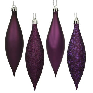 Plum Plastic 5.5-inch Drop Assorted Ornaments (Pack of 8)