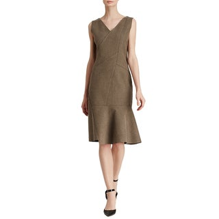 Elie Tahari Women's 'Jaydn' Brown Rayon/Polyester Dress