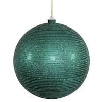 Emerald Plastic 5.5-inch Matte/Glitter Ball Ornaments (Pack of 2)