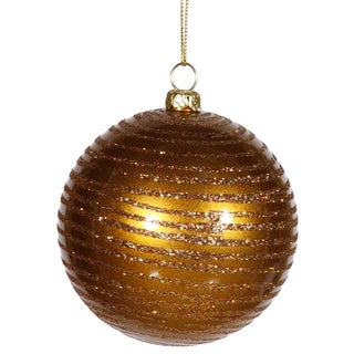 Antique Gold Matte-Glitter 4.75-inch Ball Ornaments (Pack of 3)