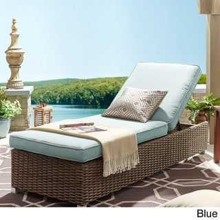 NAPA LIVING Barbados Wicker Outdoor Cushioned Brown Mocha Adjustable Chaise Lounge Chair