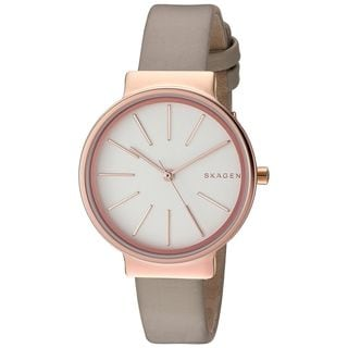 Skagen Women's SKW2481 'Ancher' Beige Leather Watch