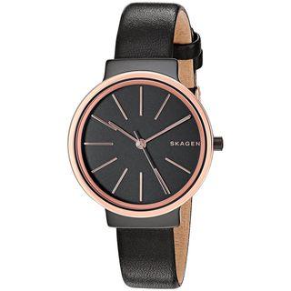 Skagen Women's SKW2480 'Ancher' Black Leather Watch