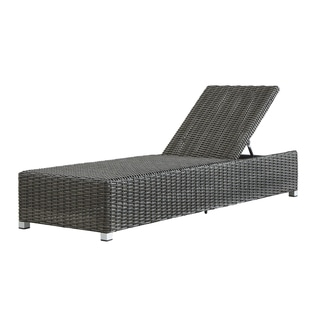 Barbados Wicker Outdoor Cushioned Grey Charcoal Adjustable Chaise Lounge Chair by NAPA LIVING