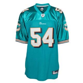Zach Thomas Jersey #54 NFL Miami Dolphins Mitchell & Ness in Aqua Marine