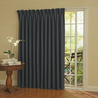"""Thermal Blackout Patio Door Curtain Panel 84"""" in Smoke Blue (As Is Item)"""