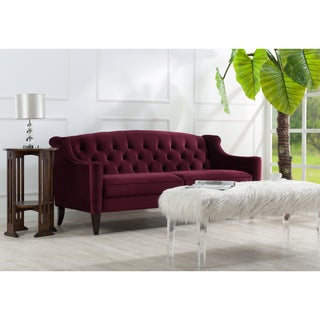 Jennifer Taylor Ken Button Tufted Velvet Sofa