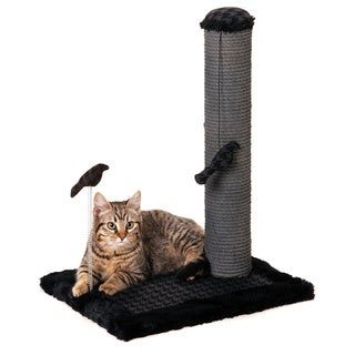Max & Marlow Grey Polyester/Wood 20-inch Cat Scratching Post