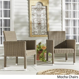 Barbados Wicker Patio Cushioned Dining Arm Chair (Set of 2) iNSPIRE Q Oasis (More options available)