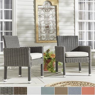 Barbados Wicker Patio Cushioned Dining Arm Chair (Set of 2) iNSPIRE Q Oasis|https://ak1.ostkcdn.com/images/products/12709046/P19490649.jpg?impolicy=medium
