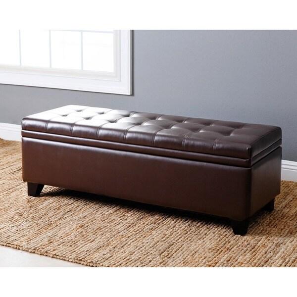 Shop Abbyson Frankfurt Dark Brown Tufted Leather Double