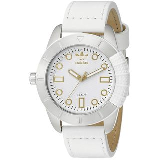 Adidas Women's ADH3055 '1969' White Leather Watch