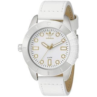 Adidas Women's ADH3055 '1969' White Leather Watch|https://ak1.ostkcdn.com/images/products/12709069/P19490530.jpg?impolicy=medium