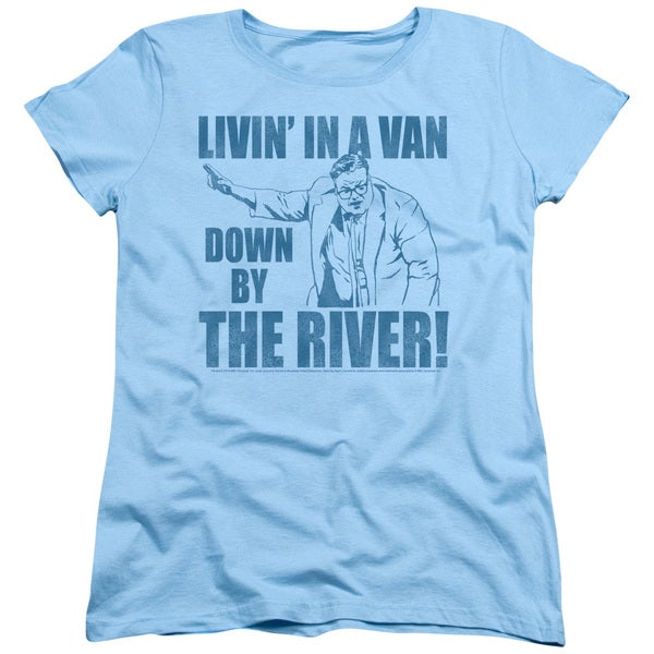 b20a52ce3 Shop SNL/Livin in A Van Short Sleeve Women's Tee in Light Blue ...