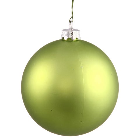 Lime Matte 6-inch Ball Ornament (Pack of 4)
