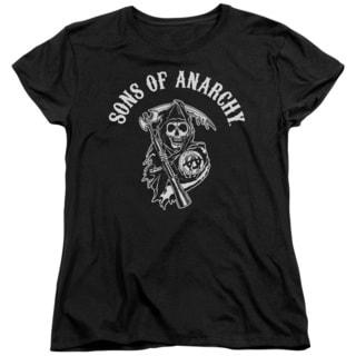 Sons Of Anarchy/Soa Reaper Short Sleeve Women's Tee in Black