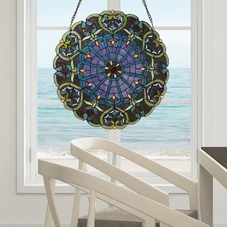 River of Goods Stained Glass Webbed Heart 27-inch Window Panel