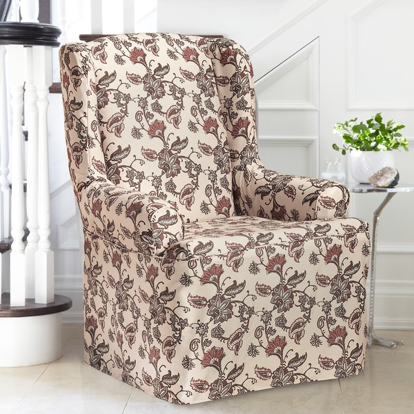 floral slipcovers for wingback chairs | Shop Coverwear Floral Wing Chair Slipcover - Free Shipping ...