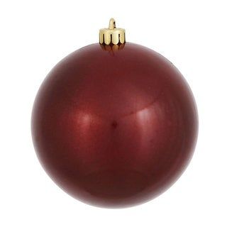 Burgundy Plastic 6-inch Candy Ball Ornaments (Pack of 4)