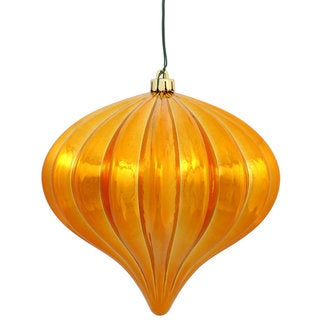 Antique Gold Plastic 5.7-inch Shiny Onion Ornaments (Pack of 3)