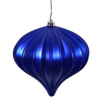 Cobalt Blue Matte 5.7-inch Onion Ornament (Pack of 3)