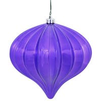 "5.7"" Purple Shiny Onion Ornament (Pack of 3)"