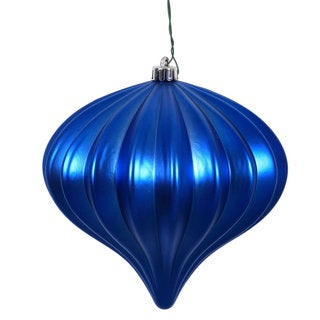 Matte Blue Plastic 5.7-inch Onion Ornaments (Pack of 3)