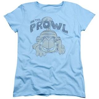 Garfield/Prowl Short Sleeve Women's Tee in Light Blue