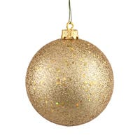 Gold Sequin 8-inch Ball Ornament