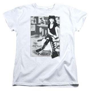 Ncis/Relax Short Sleeve Women's Tee in White