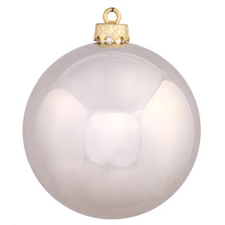 Champagne-colored Plastic 3-inch Shiny Ball Ornament (Pack of 32)