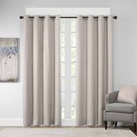 Madison Park Cassie Textural Jacquard Window Curtain Panel