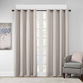 Madison Park Cassie Textural Jacquard Window Curtain Panel