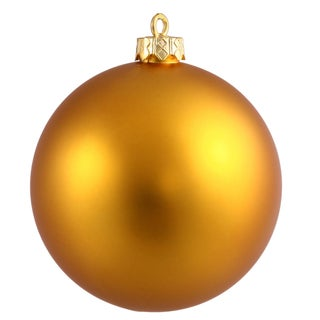 Antique Gold Plastic 3-inch Matte Ball Ornaments (Case of 32)