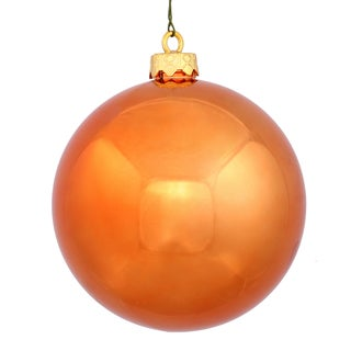 Burnished Orange 3-inch Shiny Ball Ornament (Case of 32)