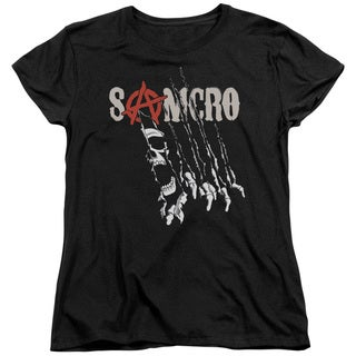 Sons Of Anarchy/Rip Through Short Sleeve Women's Tee in Black