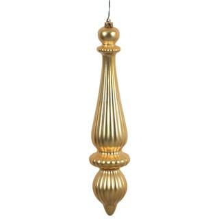 Gold Plastic 14-inch Matte Gold Finish Finial Drop Ornaments (Set of 2)