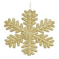 Gold 13.75-inch Glitter Snowflake Ornament