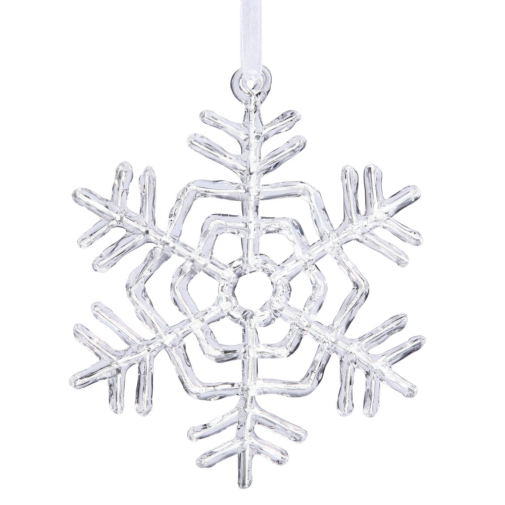 "Vickerman Clear Acrylic 12-inch Snowflake Ornament (12"" C..."