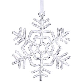 Clear Acrylic 12-inch Snowflake Ornament