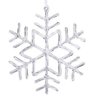 Clear 9-inch Acrylic Snowflake Ornament