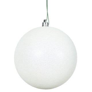 White Glitter 8-inch Ball Ornament