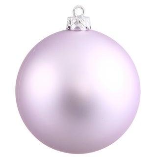 6-inch Lavender Plastic Matte Ball Ornament (Pack of 4)