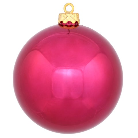 6-inch Wine Shiny Ball Ornament (Pack of 4)