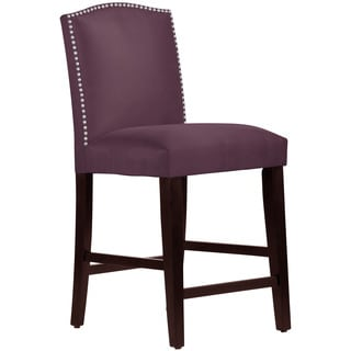 Skyline Furniture Premier Purple Nail Button Arched Counter Stool
