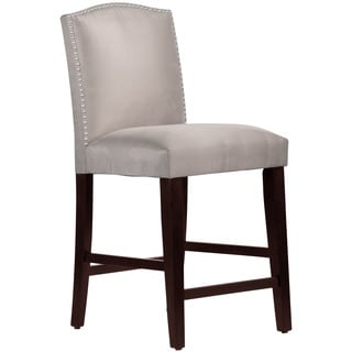 Skyline Furniture Premier Platinum Nail Button Arched Counter Stool