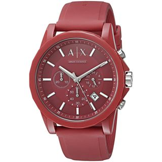 Armani Exchange Unisex AX1328 'Active' Chronograph Red Silicone Watch