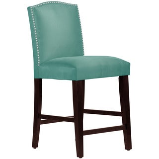 Skyline Furniture Premier Tidepool Nail Button Arched Counter Stool