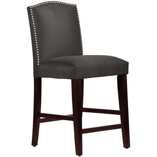 Skyline Furniture Premier Charcoal Nail Button Arched Counter Stool