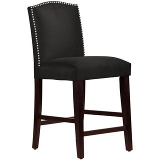 Skyline Furniture Premier Black Nail Button Arched Counter Stool